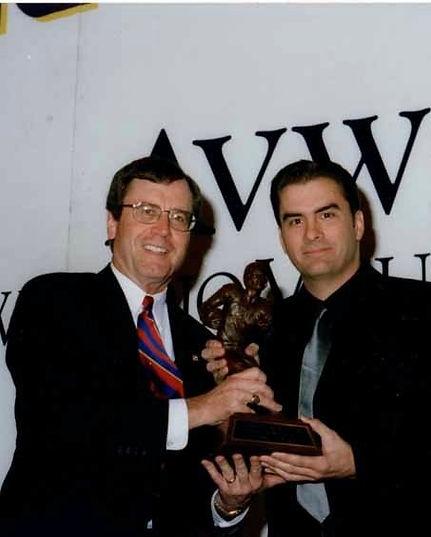 Mark Receiving The Presenter's Doak Walker Award