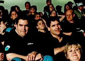Mark and Mark Cuban taking 84 underpriviledged kids to a Maverick's Game