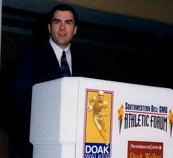 Mark speaking at Doak Walker Dinner for 2,000+