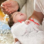 Ceremonia del bautismo del bebé