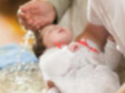 Cerimônia de batismo do bebê