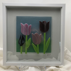 Tulip Landscape Shadow Box
