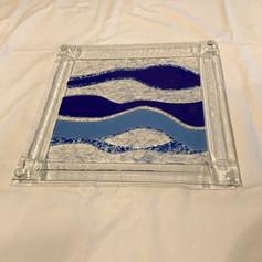 Waves Serving Platter