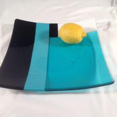 Aqua/Black Platter