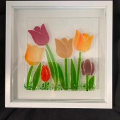 Tulip Garden Shadow Box