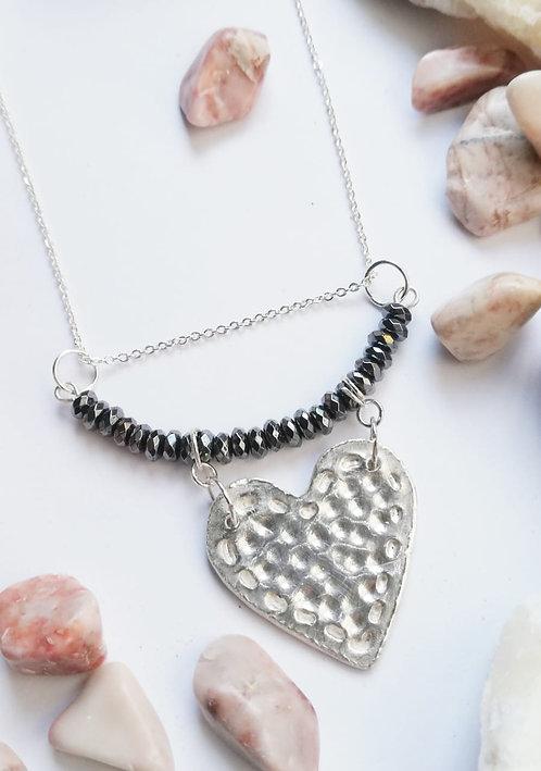 Dije de corazón en plata