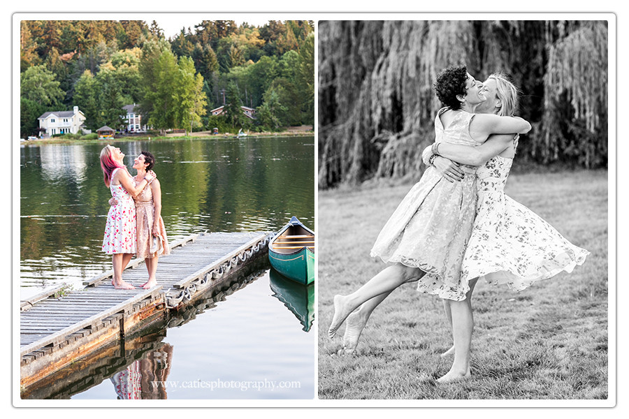 Two brides - Bainbridge Island wedding union