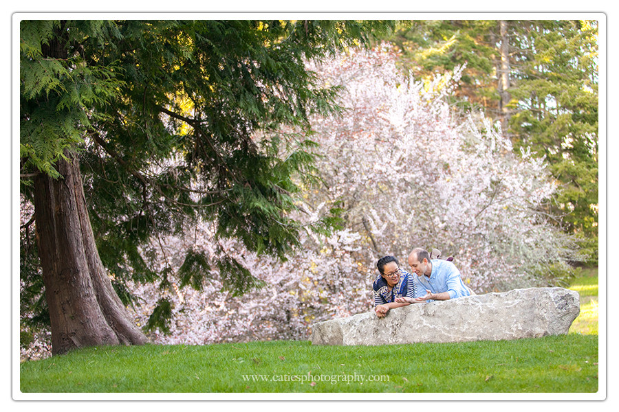 spring engagement session bainbridge island