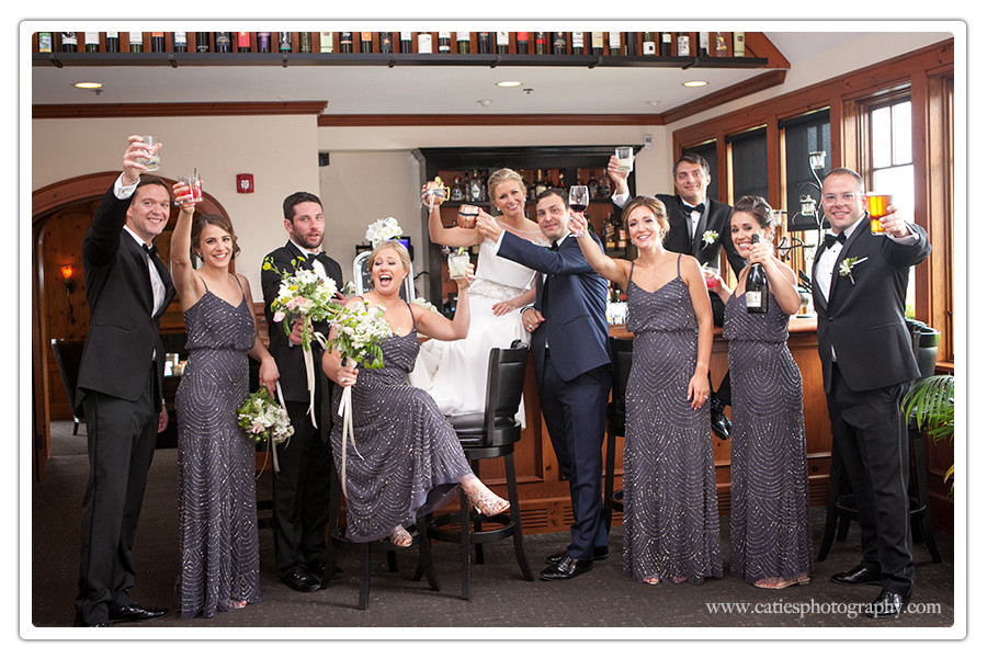 bridal party photograph Manor House