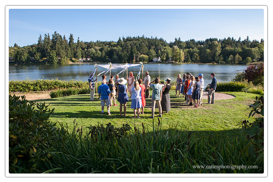 Bainbridge Island waterfront garden ceremony