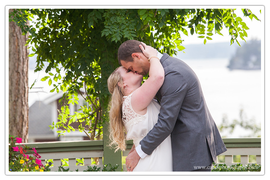 first kiss wedding photographer