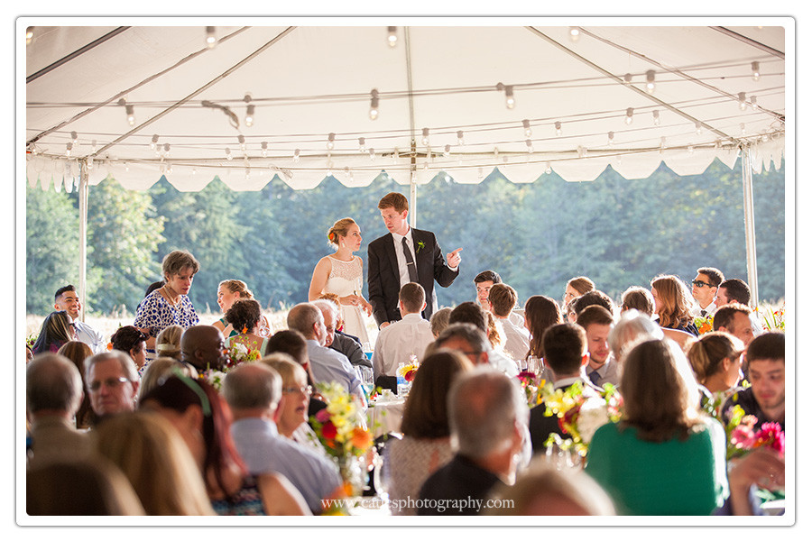 tented outdoor wedding, bainbridge island, wa