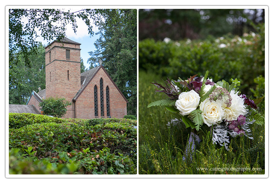 wedding St. Barnabas Church, Bainbridge Island