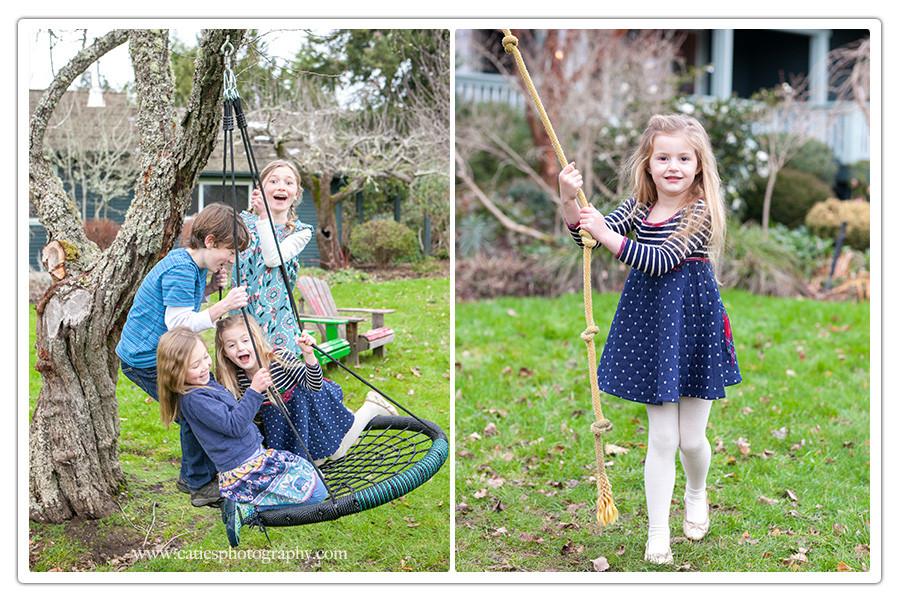winter family photography bainbridge