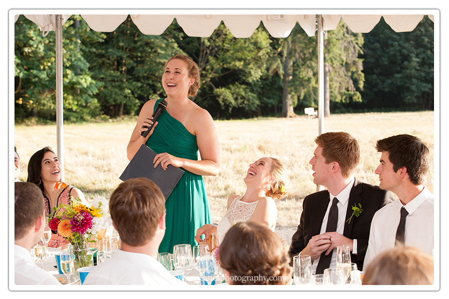 bainbridge island, wa wedding reception