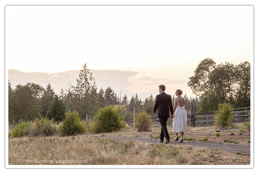 Outdoor Wedding Hilltop Bainbridge Island