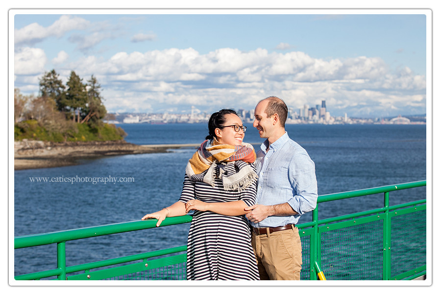 seattle to bainbridge ferry photography session