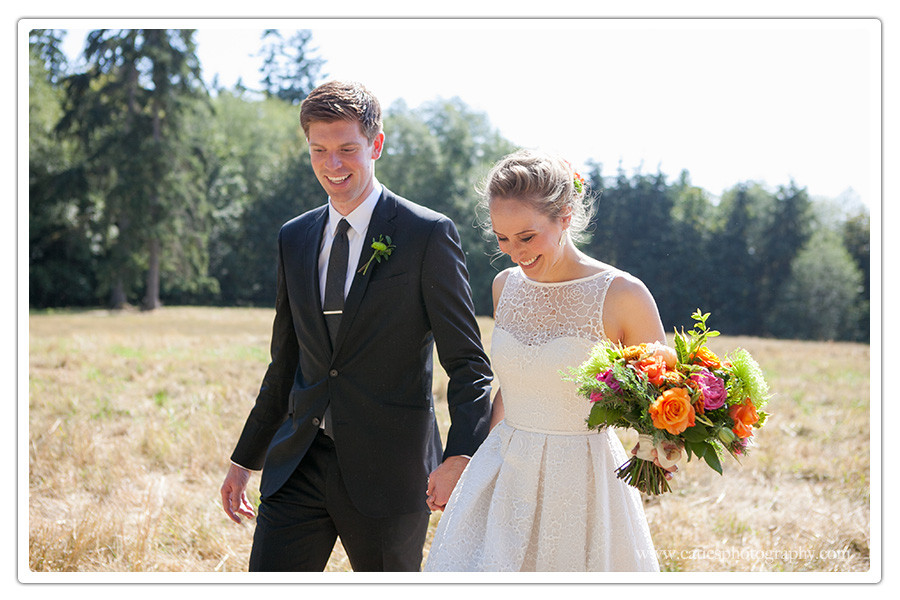 hilltop wedding, bainbridge island, wa