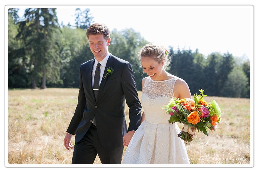 hilltop wedding, bainbridge island, wa