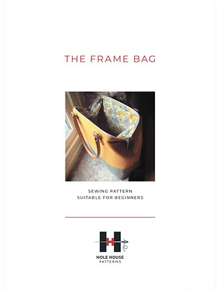 The Frame Bag Sewing Pattern  PAPER pattern