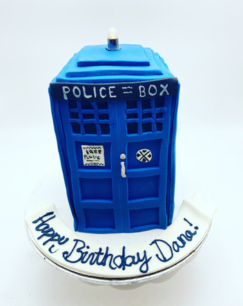 Police Box Custom Cake