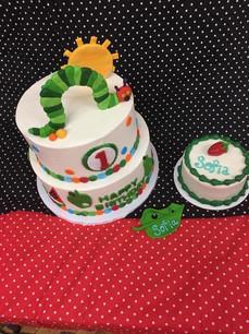 The Very Hungry Catapillar Custom Childrens Cake
