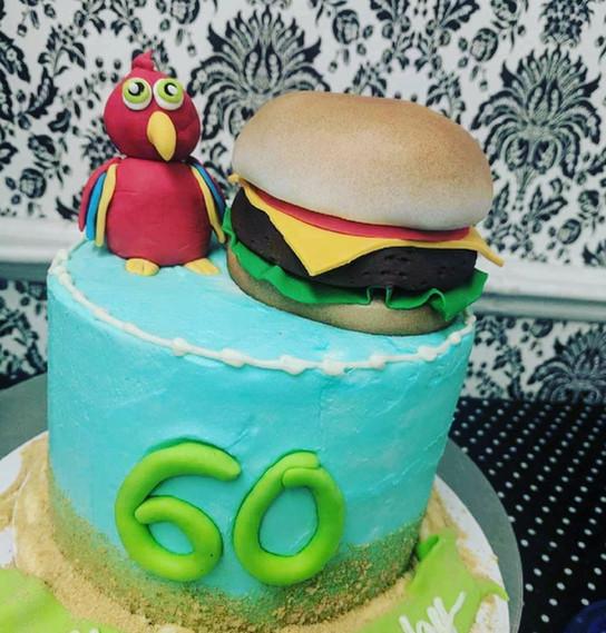 Custom 60th Birthday Cake