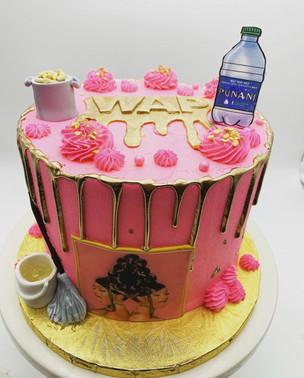 Custom WAP Drip Cake