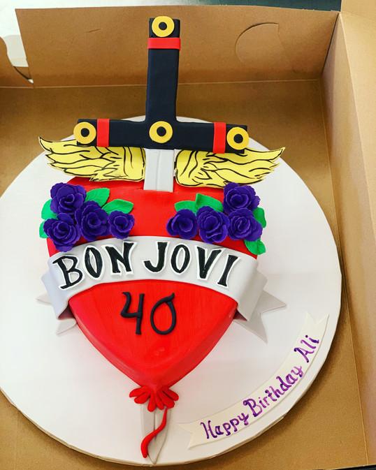 Custom Bon Jovi Cake