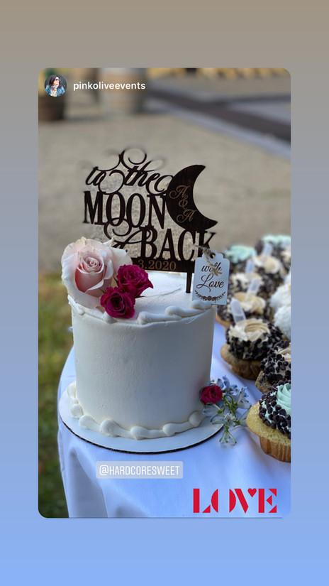 To the Moon and Back Custom Wedding Cake