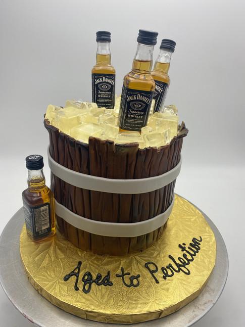 Jack Daniels Aged to Perfection Custom Cake
