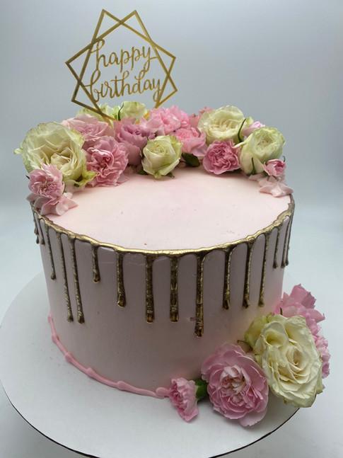 Custom Drip Birthday Cake