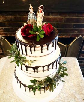 Beetlejuice Custom Wedding Cake