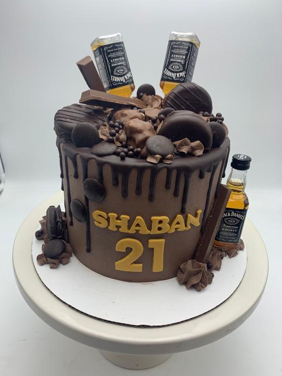 Custom 21st Birthday Drip Cake
