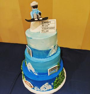 Custom Snow Boarding Cake