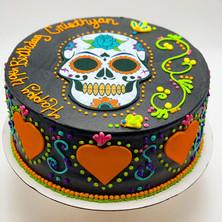 Day of the Dead Custom Cake