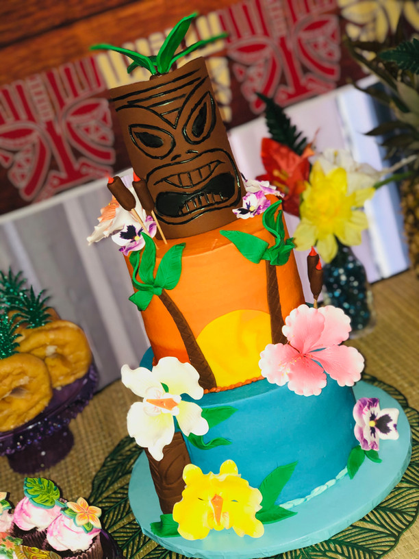 Custom Tiki Cake