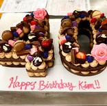 Custom 40th Birthday Cake