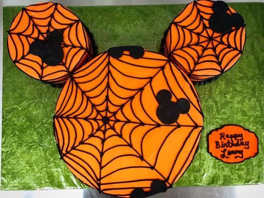 Mickey Spider Web Custom Halloween Cake
