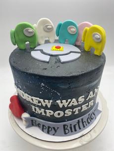 Among Us Custom Childrens Cake