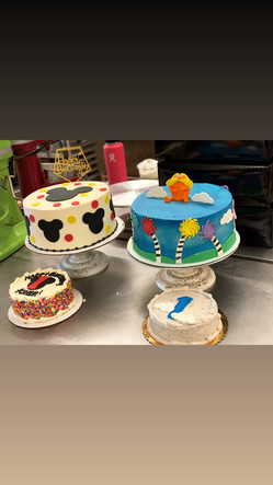 Mickey Mouse and Dr. Suess Custom Cakes