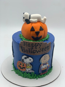 Happy Halloween Custom Cake