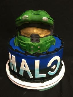 Custom Halo Game Cake