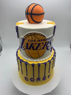 Custom Lakers Basketball Cake