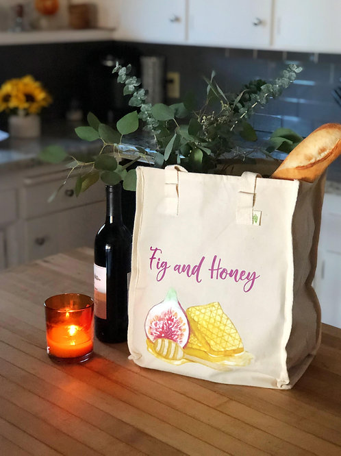 Fig & Honey Canvas Tote Bag