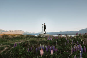 Tekapo-Elopement-in-the-lupins-by-Church