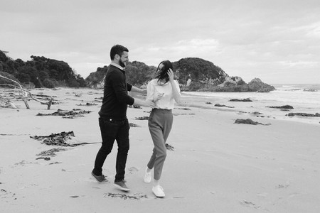 Engagement Photos at Kaka Point in the Catlins