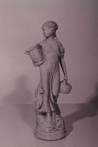 Girl Carrying Baskets - Small