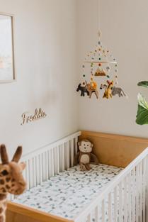 Jungle themed twin nursery