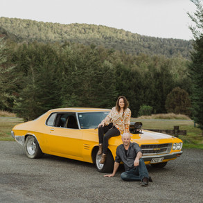 Te Anau drag car engagement photos